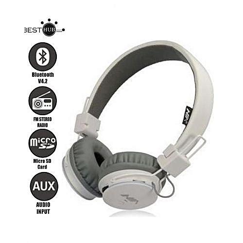 Nia Casque Nia Q8 Stéréo Bluetooth Sans Fil Audio Avec Micro Soutien