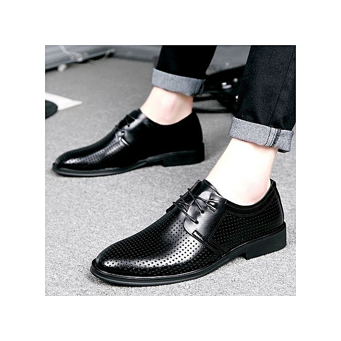 Fashion Genuine Leather Men Breathable Formal chaussures British Style Loafers Slip-On à prix pas cher    Jumia Maroc