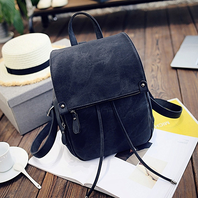 OEM femmes Soft Leather Casual Small Packet Preppy Style Rucksacks Backpacks Bags à prix pas cher