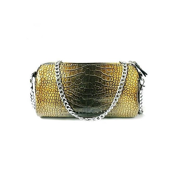 Siketu Fashion femmes Leather Handbag Crossbody Shoulder Bag Messenger Phone Bag-jaune à prix pas cher