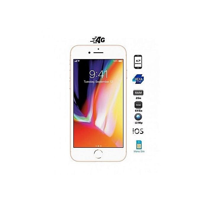 apple iphone 8 4 7 64go 2go ios gold. Black Bedroom Furniture Sets. Home Design Ideas