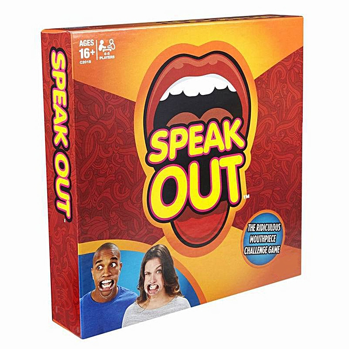 Autre Speak Out Game Laugh-Out-Loud Family Party Playing voitureds Brace Toys Hilarious Fun with 5 Mouthpieces Random Couleur Timer à prix pas cher