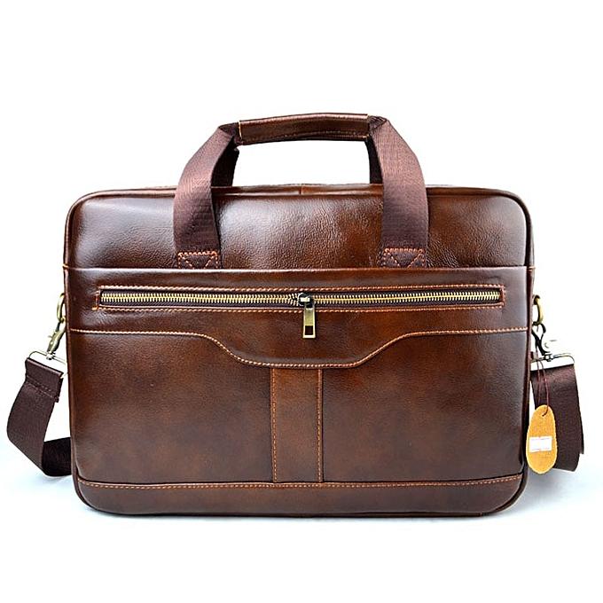 Other AETOO  cuir  cuir laptop sac Handsacs Cowhide Hommes bandoulière sac Hommes's voyage marron cuir briefcase(3) à prix pas cher