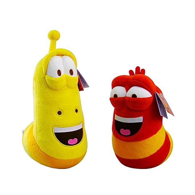 Autre 10cm LARVA Plush Toys jaune Insect rouge Insect Hot Cartoon Larva Toys Stuffed Doll G0370(11cm jaune) à prix pas cher