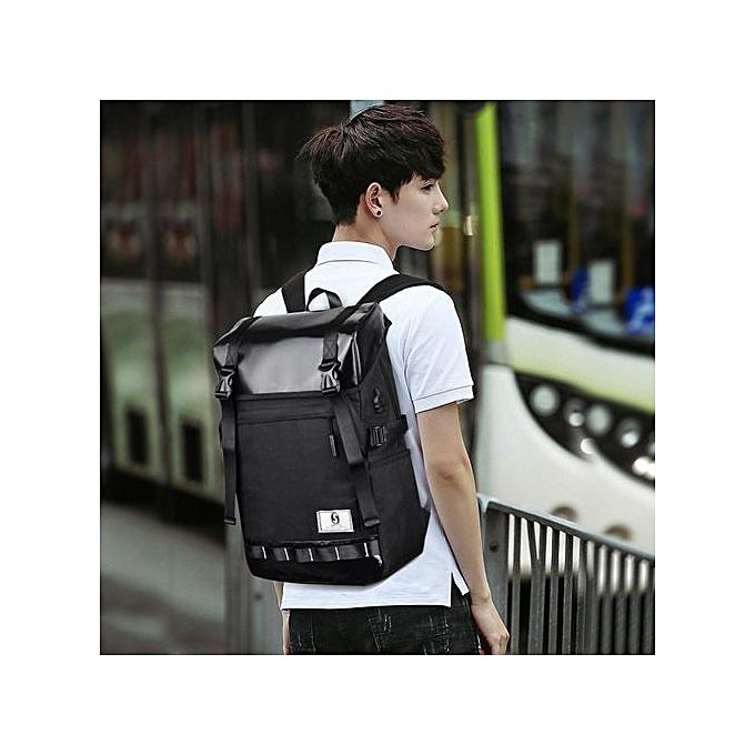Generic Tectores mode Accessories Hommes's Oxford Luminous High-capacité School sac voyage sac à dos sac BK à prix pas cher