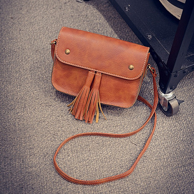 Siketu femmes Handbags Small Messenger Bags Crossbody Shoulder Bags Clutch Purse Bag BW-marron à prix pas cher