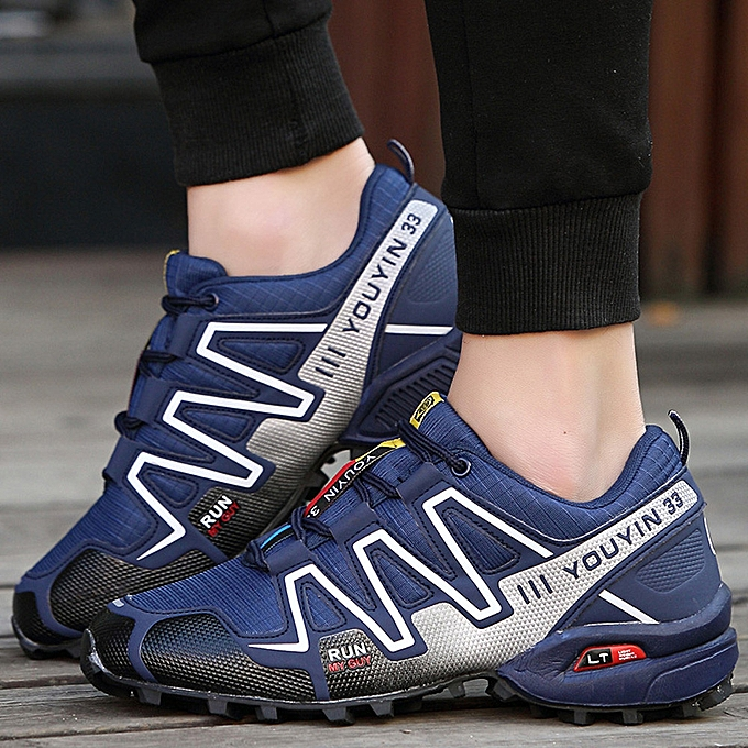 Fashion Hiamok Men Running chaussures Hiking chaussures baskets Athletic Outdoor Sports Hiking baskets à prix pas cher