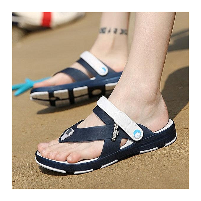 Fashion Fashion Men Clip-toe Soft Waterproof Beach Sandals Slip On Cool Garden chaussures-EU à prix pas cher    Jumia Maroc