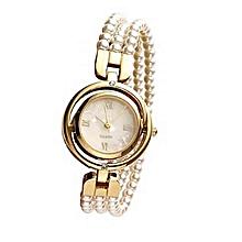 9233ba7819069 Montre Classique en Perles pour Elle
