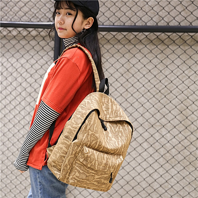 Fashion Fashion Unisex Casual Travel Satchel Shoulder Backpack KH à prix pas cher