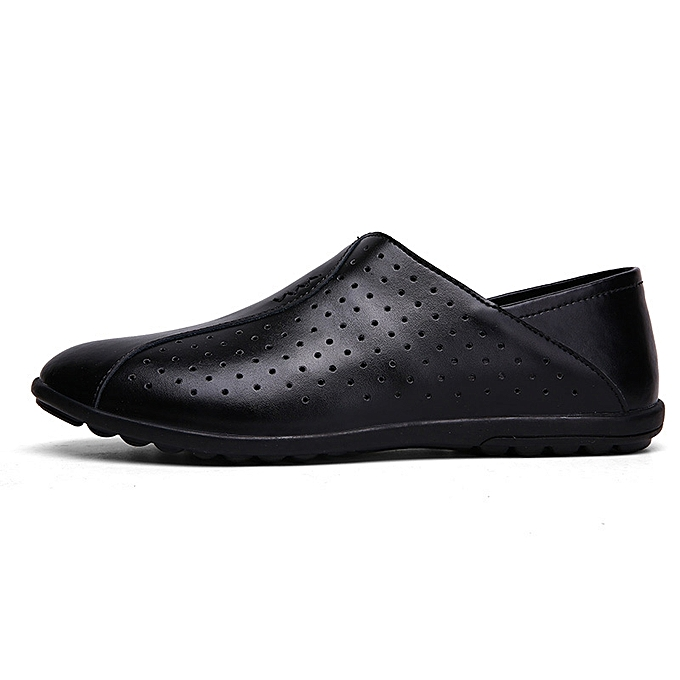Tauntte  's Genuine Leather Moccasins Hollow Out Casual Shoes à Loafers (Black) à Shoes prix pas cher  | Black Friday 2018 | Jumia Maroc f20450