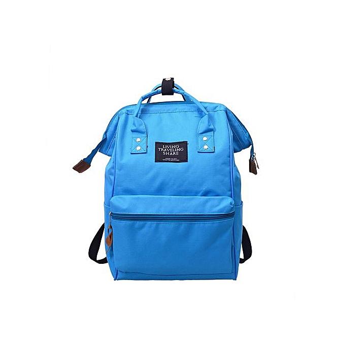 mode Xiuxingzi_Unisex Solid sac à dos School voyage sac Double Shoulder sac Zipper sac à prix pas cher
