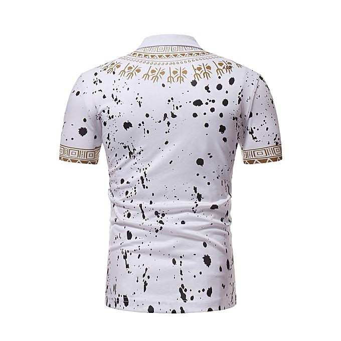 Other mode mode Hommes manche courte Printed Polo Shirt à prix pas cher