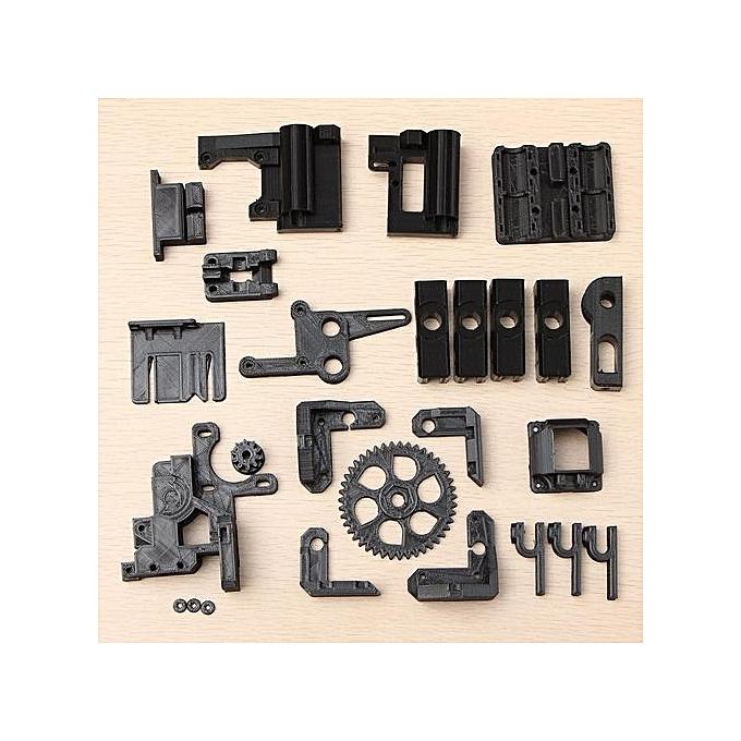UNIVERSAL Printed Parts Kit For RepRap Prusa I3 Rework noir PLA 3D Printer DIY noir à prix pas cher