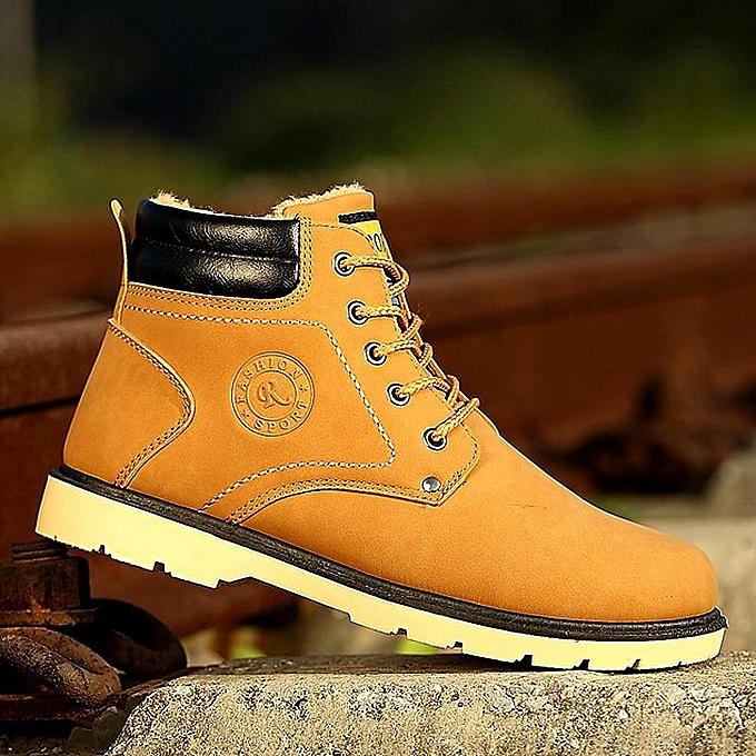 Fashion New   Fur Lined Ankle Martin à Boots Casual High Top Sneakers Boy Winter Shoes-EU à Martin prix pas cher    Jumia Maroc 4e7d48
