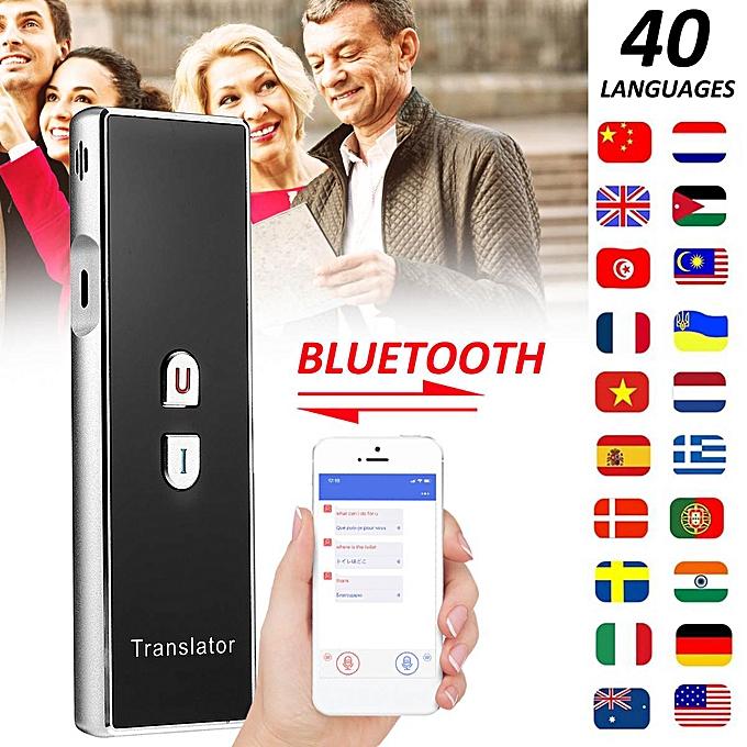 Other Smart Voice Translator 40 Languages Translation Instant  Traductor Outdoor Portable Language Translator for Business QLANG à prix pas cher