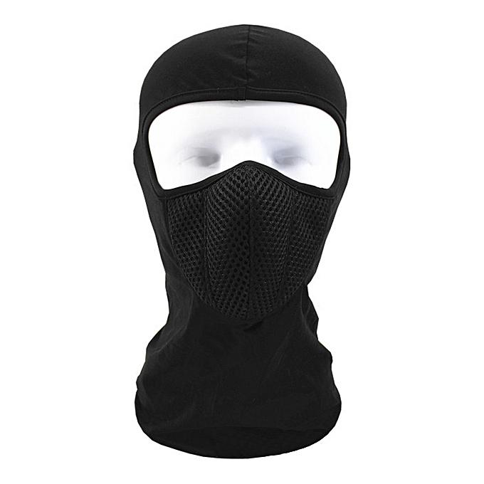 Autre Balaclava Moto Face Mask Motorcycle Face Shield Tactical Airsoft Paintball Cycling Bike Ski Army Helmet Full Face Mask( noir) à prix pas cher