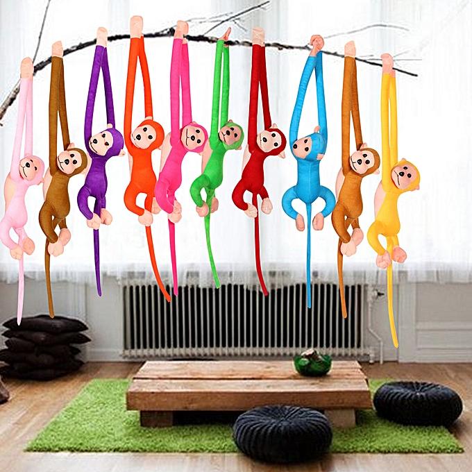 Autre 60CM Kawaii Long Arm Tail Monkey Stuffed Doll Plush Toys Curtains   Sleeping Appease Animal Doll Birthday Gifts 10 Couleurs(marron) à prix pas cher