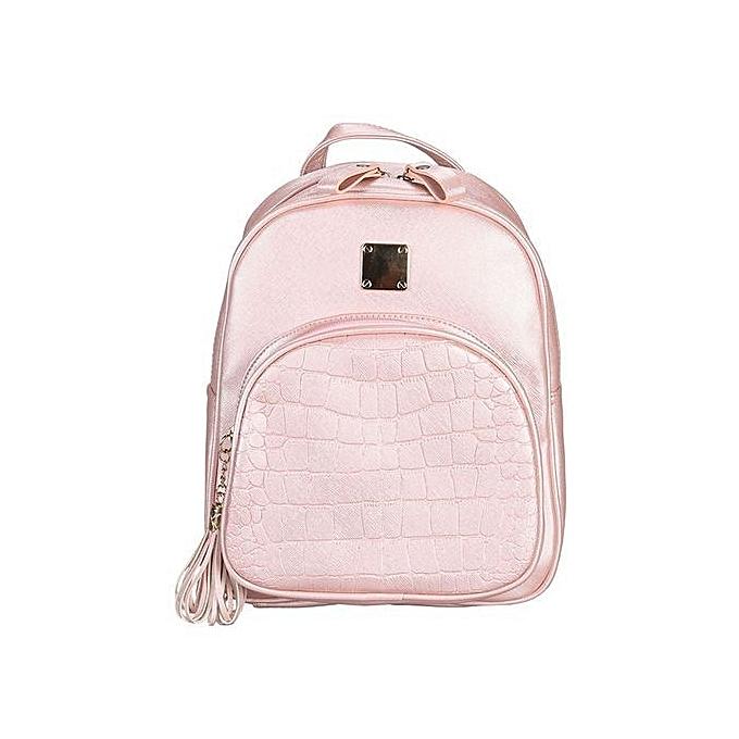 nouveauorldline femmes mode Stone Pattern voyage Satchel School sac sac à dos sac - rose à prix pas cher