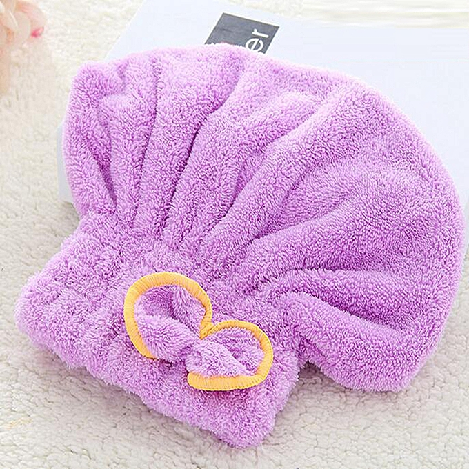 Other Bath Cap Simple Strong Water Absorption Comfy Hair Drying Cap à prix pas cher