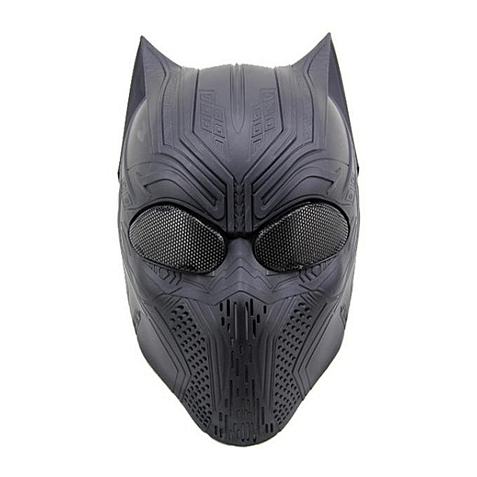 UNIVERSAL CS Full Face Mask For Cosplay HalFaibleeen Tactical Airsoft Skull Paintball War Game Mask Panther Skull Mask à prix pas cher