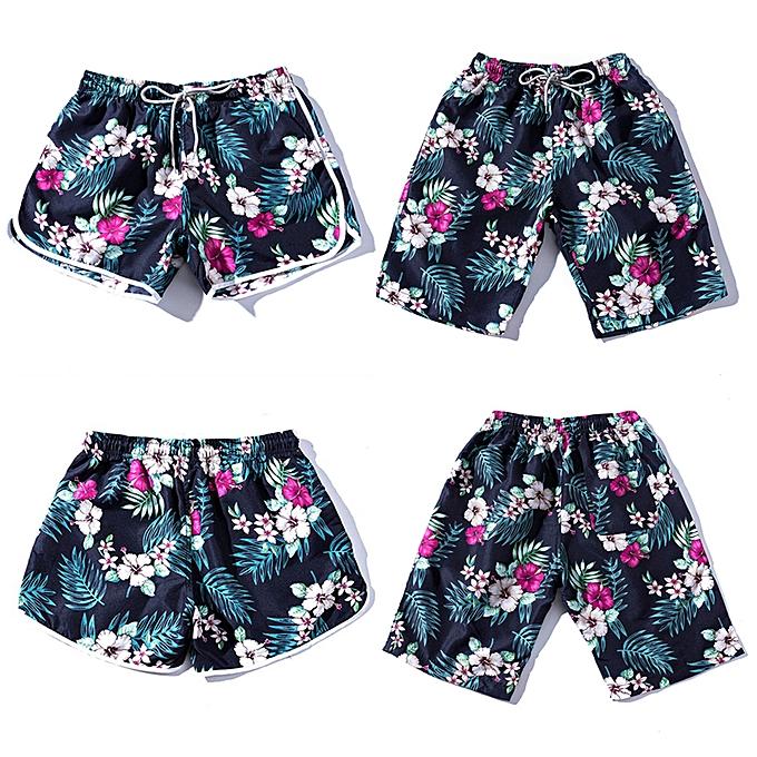 mode été Hommes Couples plage Floral Bohe Swim courtes Tcourirks Pants Plus Taille L à prix pas cher