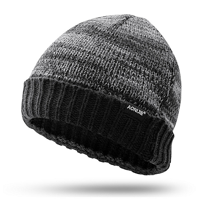 AONIJIE Winter Warm Knitted Hat Outdoor Cycling Running Sports Winter Knit Ski Lot Wool Caps Hats Skullies Beanies For Men femmes(M252) à prix pas cher