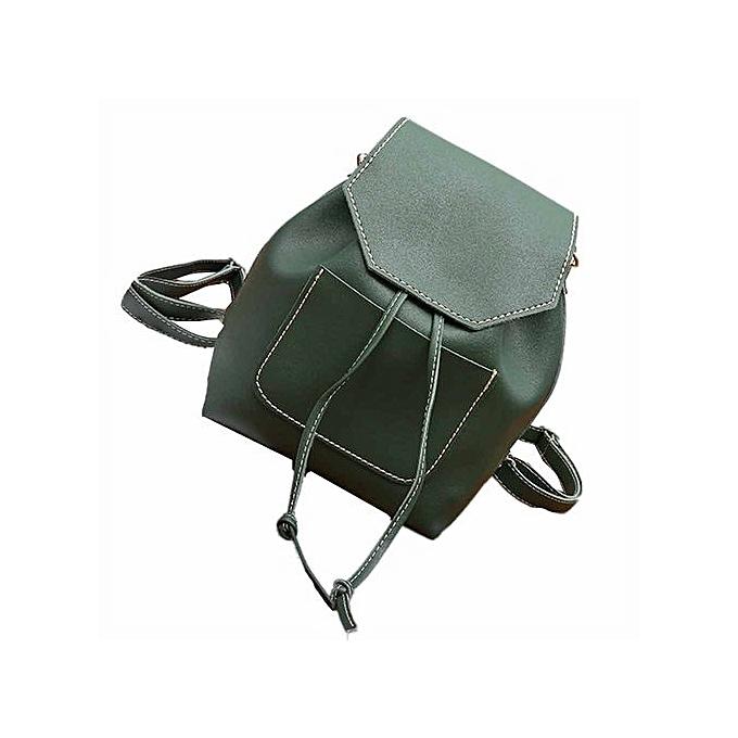 Generic femmes Fashion Leather Travel Satchel Pendant School Bag Backpack Bag à prix pas cher