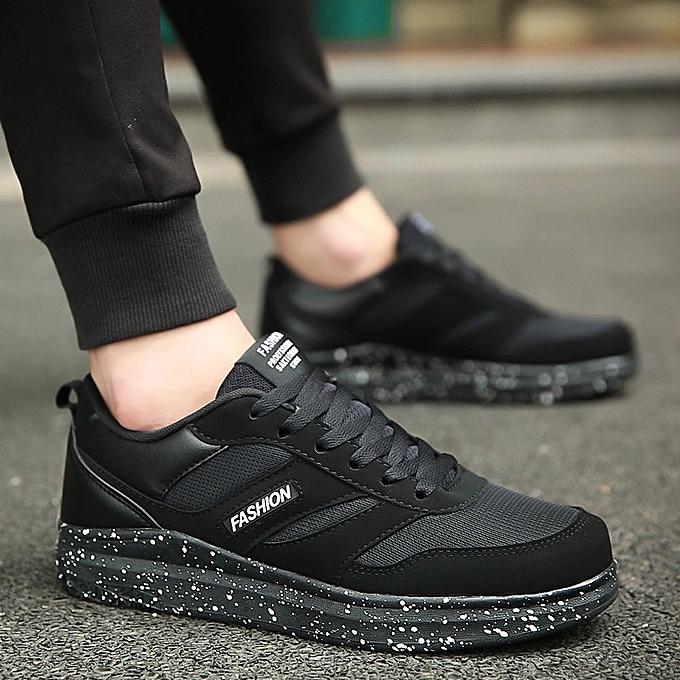 Other Men's Heighten Lace up Mesh Jogging chaussures -noir à prix pas cher