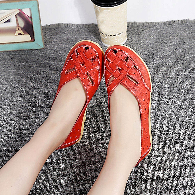 Fashion (Xiuxingzi) Wohommes chaussures Lady Flats Sandals Leather Ankle Casual Slipper Soft chaussures à prix pas cher