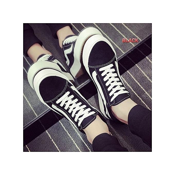 Other Harajuku Casual Men's noir Canvas chaussures à prix pas cher
