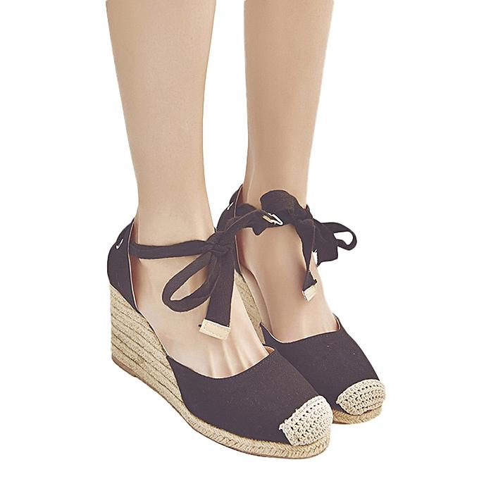 Generic femmes Spring Casual Wedge Cross Strap High Heel Platform Pump chaussures sandals à prix pas cher    Jumia Maroc