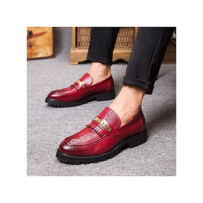 Zant Formal Leather Shoes Shoes Leather Natural Genuine Leather Slip-on   Dress Shoes Red à prix pas cher  | Jumia Maroc 928c5e