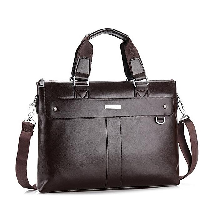 Other VORMOR 2019 Men Casual Briefcase Business Shoulder Bag Leather Messenger Bags Computer Laptop Handbag Bag Men's Travel Bags(marron) à prix pas cher