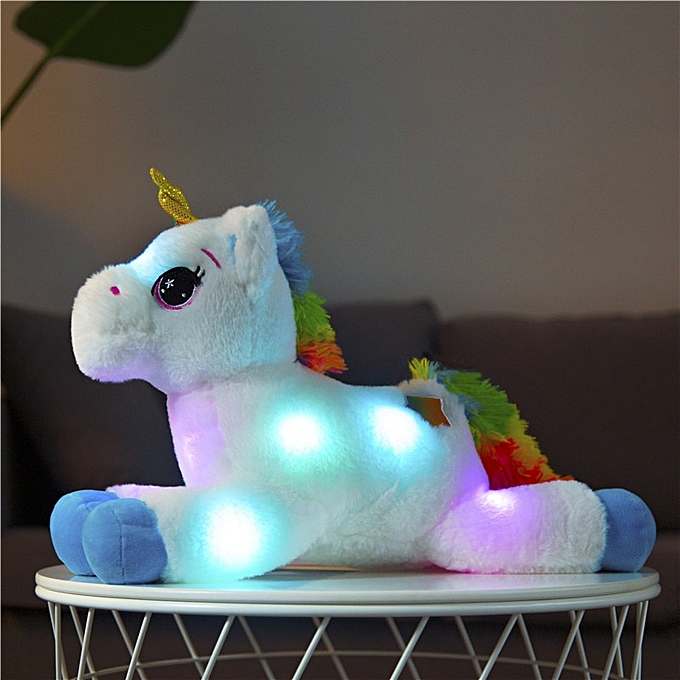 Autre 40cm LED Plush lumière Up Toys Unicorn Stuffed Animals Plush Toys Cute Pony Horse Toy Soft Doll Enfants Toys Christmas Birthday Gifts(blanc) à prix pas cher