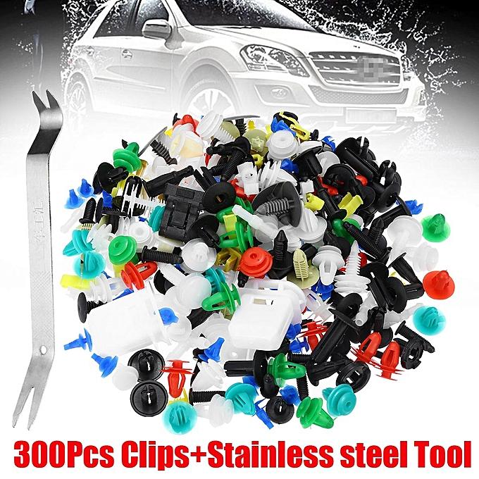 UNIVERSAL 300Pcs Car Retainer Clips Push Pin Rivets Set Door Trim Panel Clip And Fasteners Kit à prix pas cher