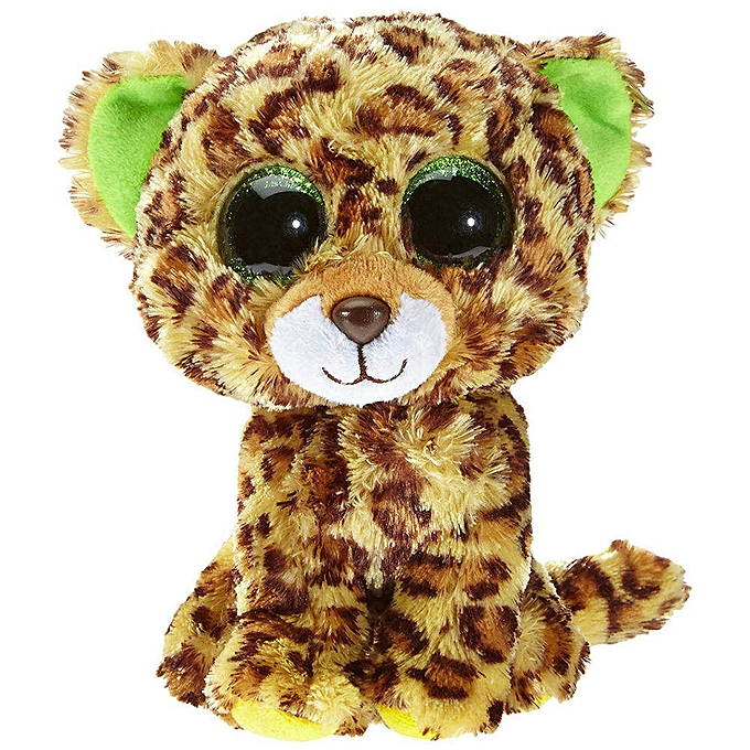 Autre Ty Beanie Boos 6  15cm Dog Bird Fish Bunny Penguin Raccoon Lamb Plush Big eyed Stuffed Animal Doll Toy with Heart Tag(Speckles Leopard) à prix pas cher