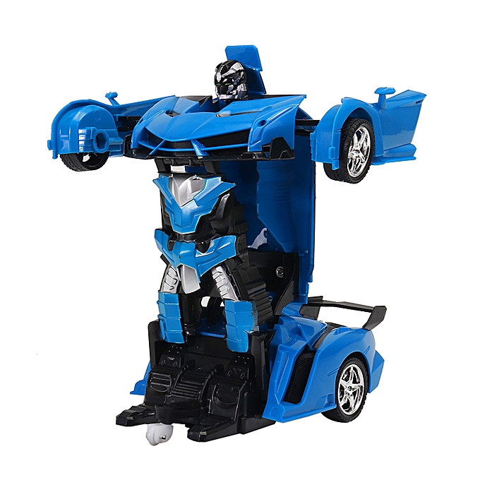 UNIVERSAL Rastar 2 In 1 Rc voiture Sports Wireless Transformation Robot Models Deformation Fighting Toys -jaune à prix pas cher