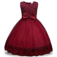 cdd3c167e1c05 Children Dress Lace Dress Girls Bow Dress Skirt