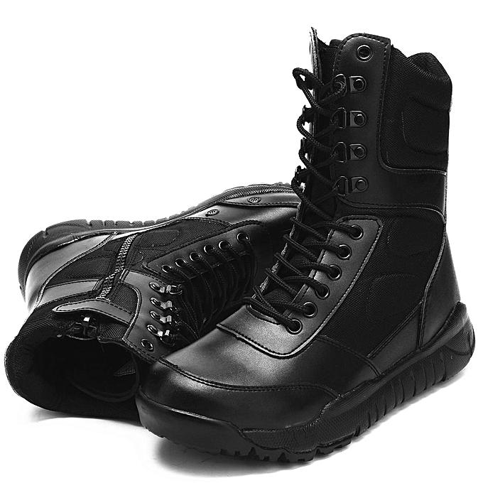 Fashion Fashion Fashion Fashion  's Outdoor Military Ankle Boots High Top Leather  Combat Non-slip Work Shoes-EU à prix pas cher  | Jumia Maroc 3a2a54