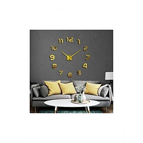 da667c560 Autre 3D - ساعة جدارية ذهبية | جوميا المغرب