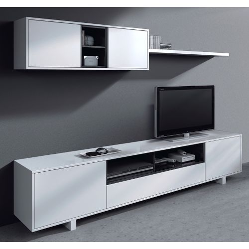 fores meuble tv belus 200 cm blanc gris acheter en ligne jumia maroc. Black Bedroom Furniture Sets. Home Design Ideas