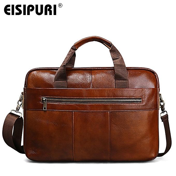 Other 2019 Hommes Vintage Oil Wax  cuir Cowhide Handsac 15.6  laptop Briefcase Affaires Messenger Shoulder sac Handsacs( ) à prix pas cher