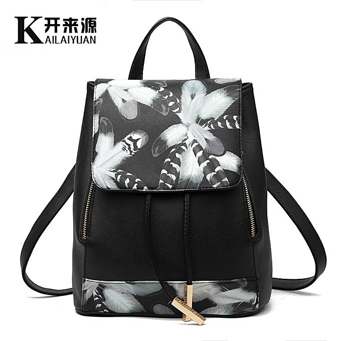 Other sac à dos femmes sac nouveau Wave Female Student sac à dos mode Décontracté Korean Version Of The School sac(noir S1) à prix pas cher