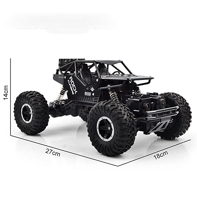 OEM 1 16 48KM H RC Truck 4WD Off-Road Vehicle 2.4GHz Remote Control Climbing voiture Toy -- noir   rouge   bleu à prix pas cher