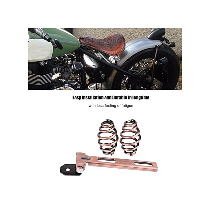 Other Motorcycle Calabash Bronze Soft Leather Solo Seat Bracket Spring For Harley Honda Yamah.a( 1) à prix pas cher