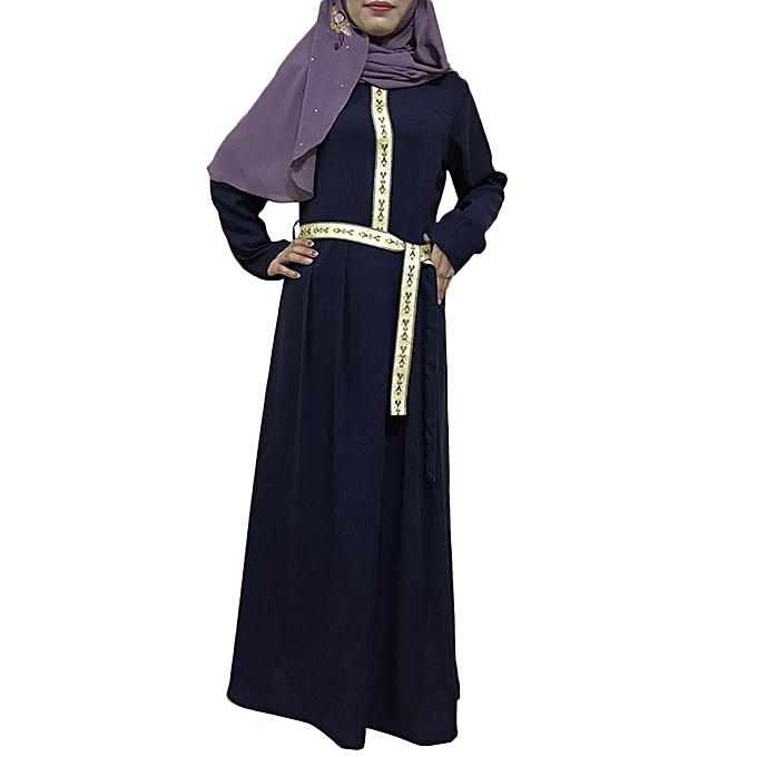 Fashion Hiamok Wohommes Abaya Turkish Beaded Dress Robes Muslim Ladies Kaftan Jilbab Clothes à prix pas cher