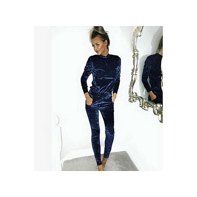 OEM Comfortable nouveau mode 2PCS  femmes Crushed velours Tracksuit Décontracté sweat à capuches Sweatshirt Pants Sets Sport Suits à prix pas cher