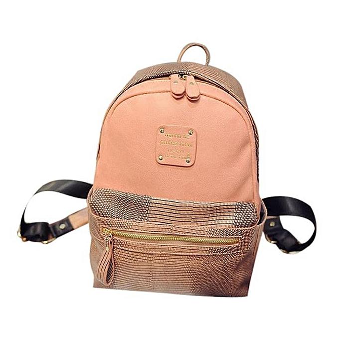 mode Tcetoctre femmes Décontracté Sports Shopping sacs Ladies mode nouveau voyage Books sac à dos  BW- marron à prix pas cher