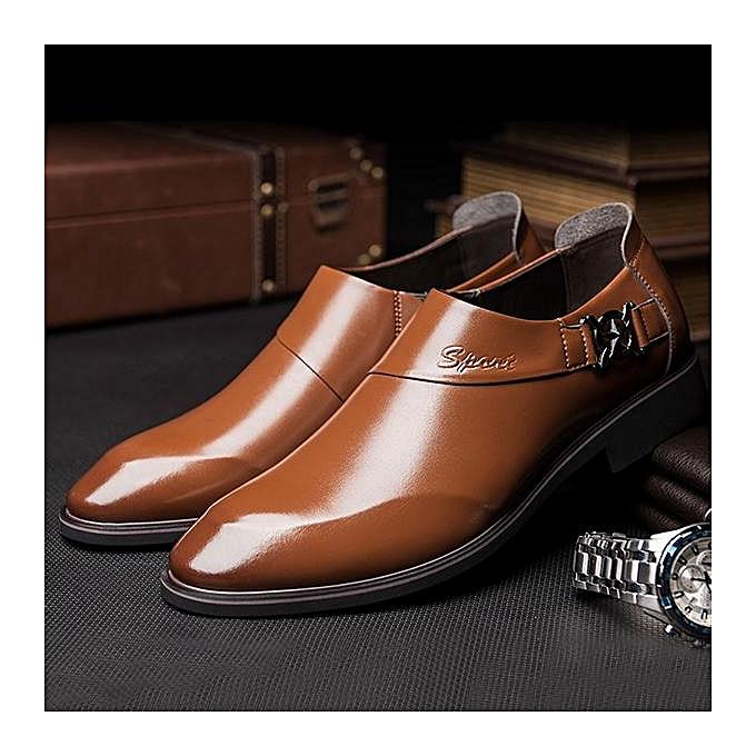 Fashion Fashion   Microfiber Leather Pointed Toe Slip Slip Slip On Formal Dress Shoes-EU à prix pas cher  | Black Friday 2018 | Jumia Maroc e3a327
